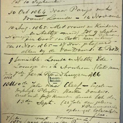 1859-1866: Uitstapjes en vakanties