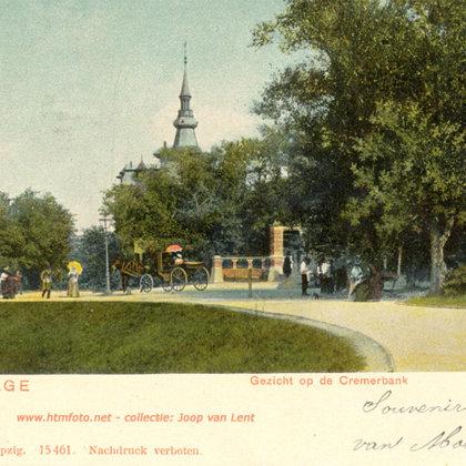 1881: Cremerbank in de Scheveningse bosjes.