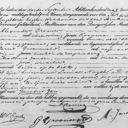 1827: Geboorteakte