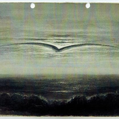 Wolkspeling. Tekening uit 1870.