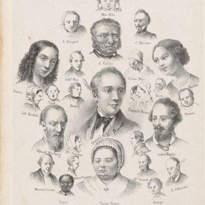 1856 Daniel Sils. Tekening.
