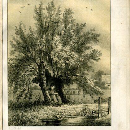 1855 De oude Wessels en zijn gezin. Uit de Geldersche volks-almanak