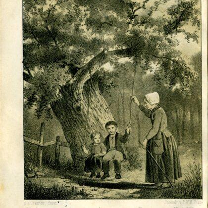 1856 Deine Meu. Tekening Geldsche volksalmanak 1856.