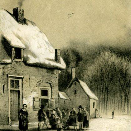 Wiege Mie. tekening uit 1853