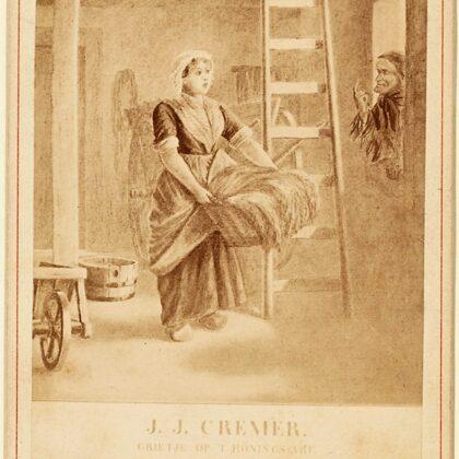 Grietje op 't Honings arf. Tekening bij de novelle uit 1866.